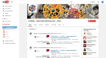 Youtube channel of Summer School 2014